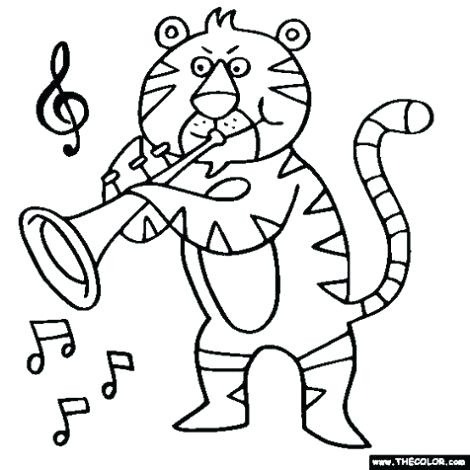 470x470 Coloring Pages Of Musical Instruments Music Instrument Coloring