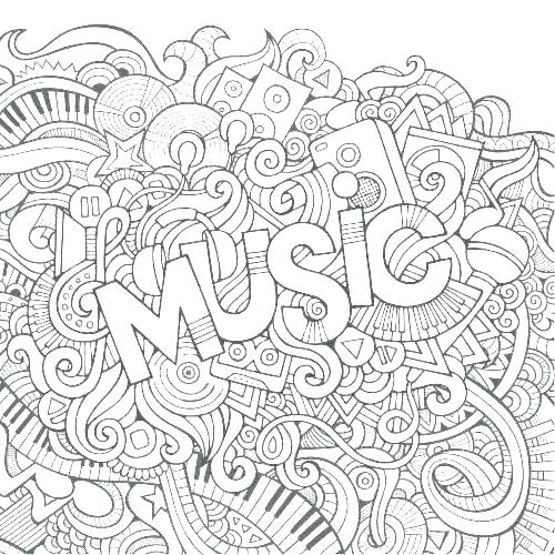 500x500 Coloring Pages Of Musical Instruments Printable Music Coloring