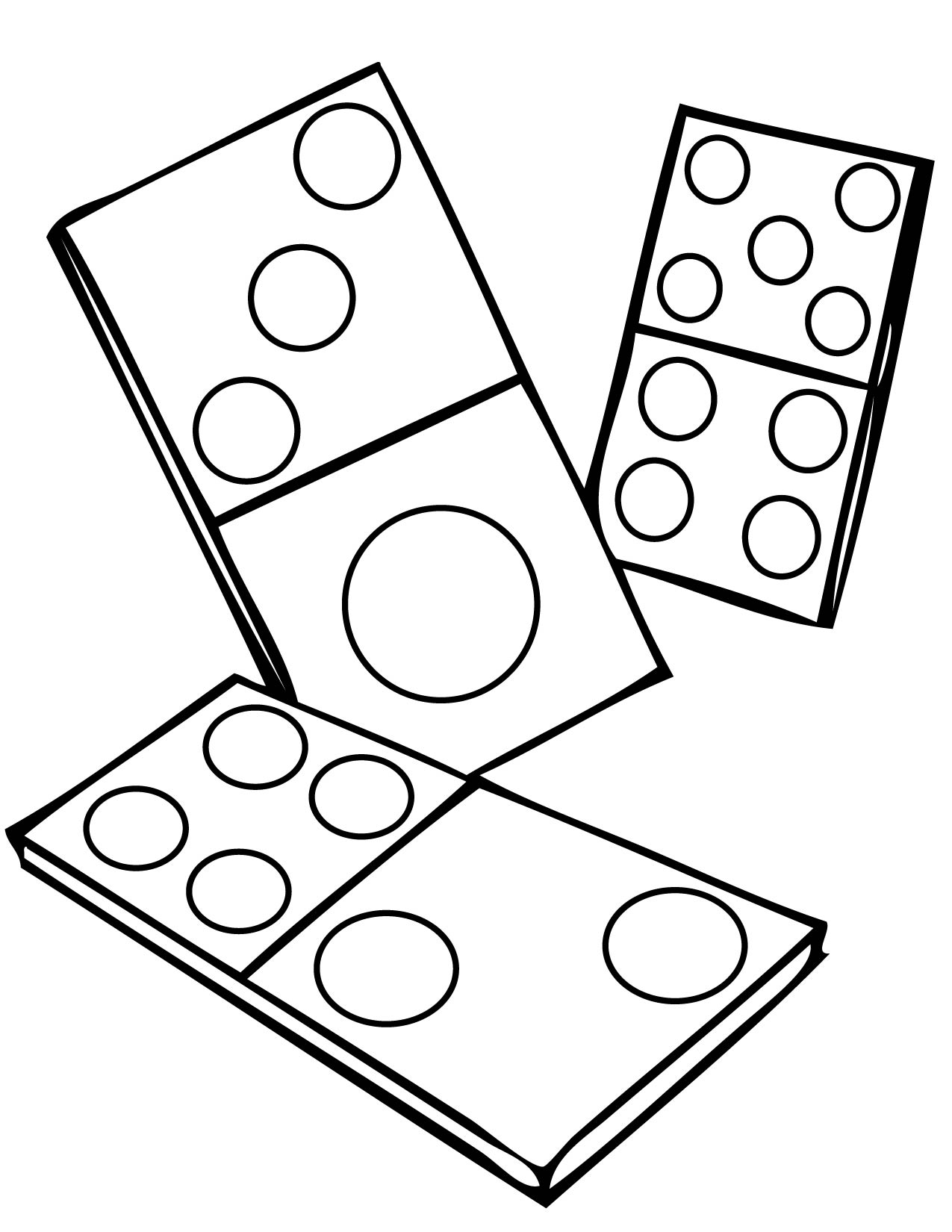 1275x1650 Interactive Coloring Pages Perspective Games Dominoes Page