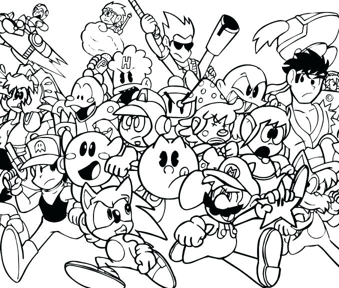 678x576 Video Game Coloring Pages With Video Game Coloring Pages Video