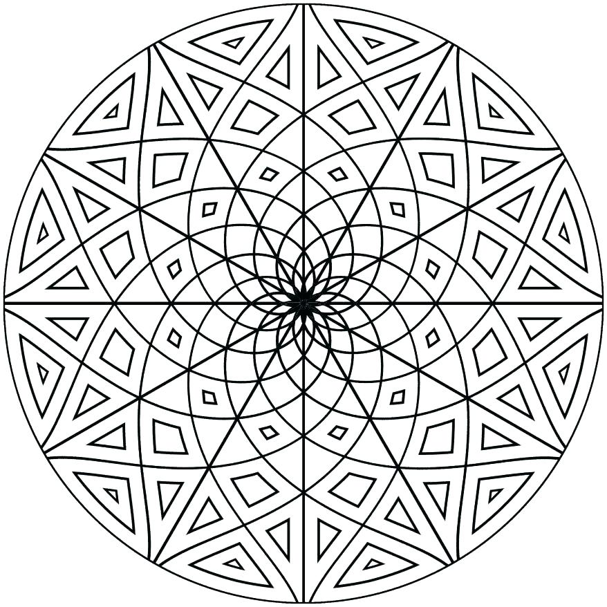 878x878 Free Printable Mosaic Coloring Pages For Adults Color Interesting