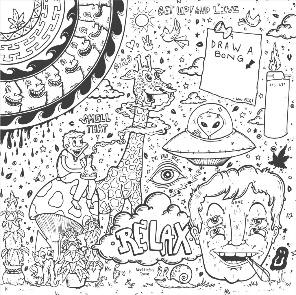 1024x1021 Interesting Stoner Coloring Pages Printable S