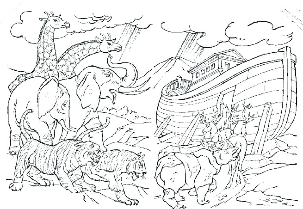 1024x706 Noah Coloring Pages Coloring Pages Pics Of Ark Storybook Coloring