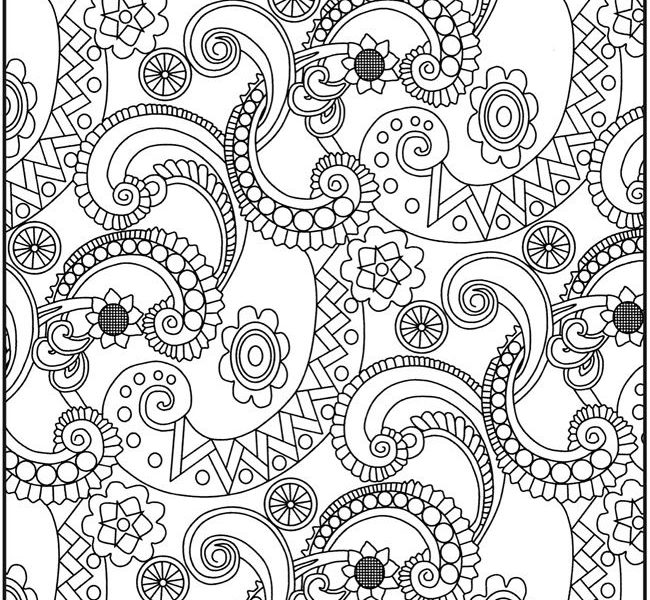 650x600 Paisley Print Coloring Pages Free Printable Paisley Coloring Pages