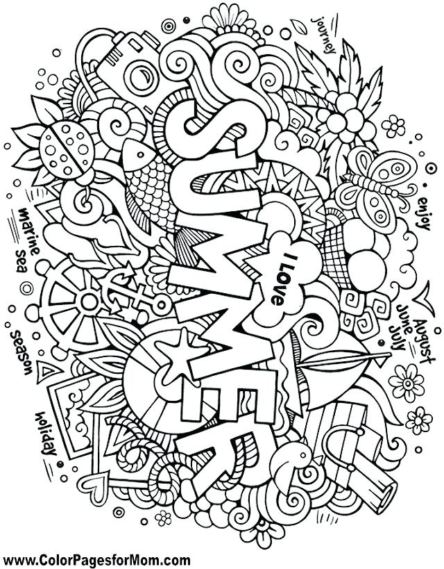640x819 Astonishing Interesting Doodle Coloring Pages Free Download Page