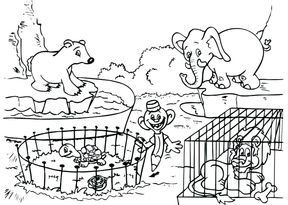 1008x718 Cool Animal Coloring Pages