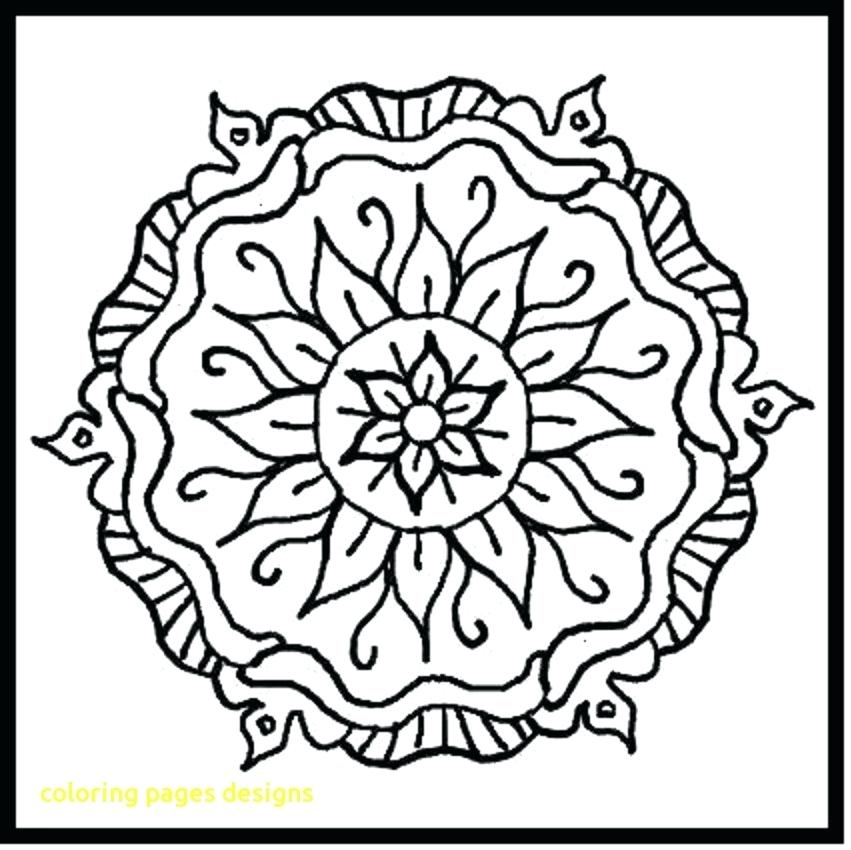 851x850 Coloring Pages With Designs Coloring Pages Designs With Printable
