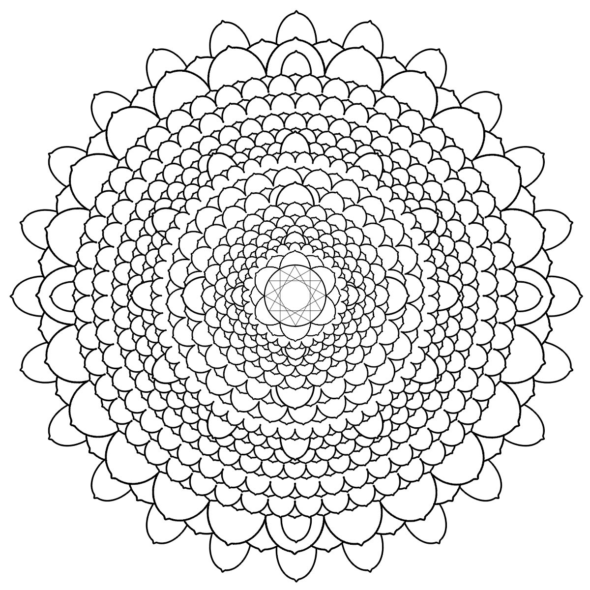 1200x1200 Intermediate Mandala Coloring Pages Free Coloring For Kids