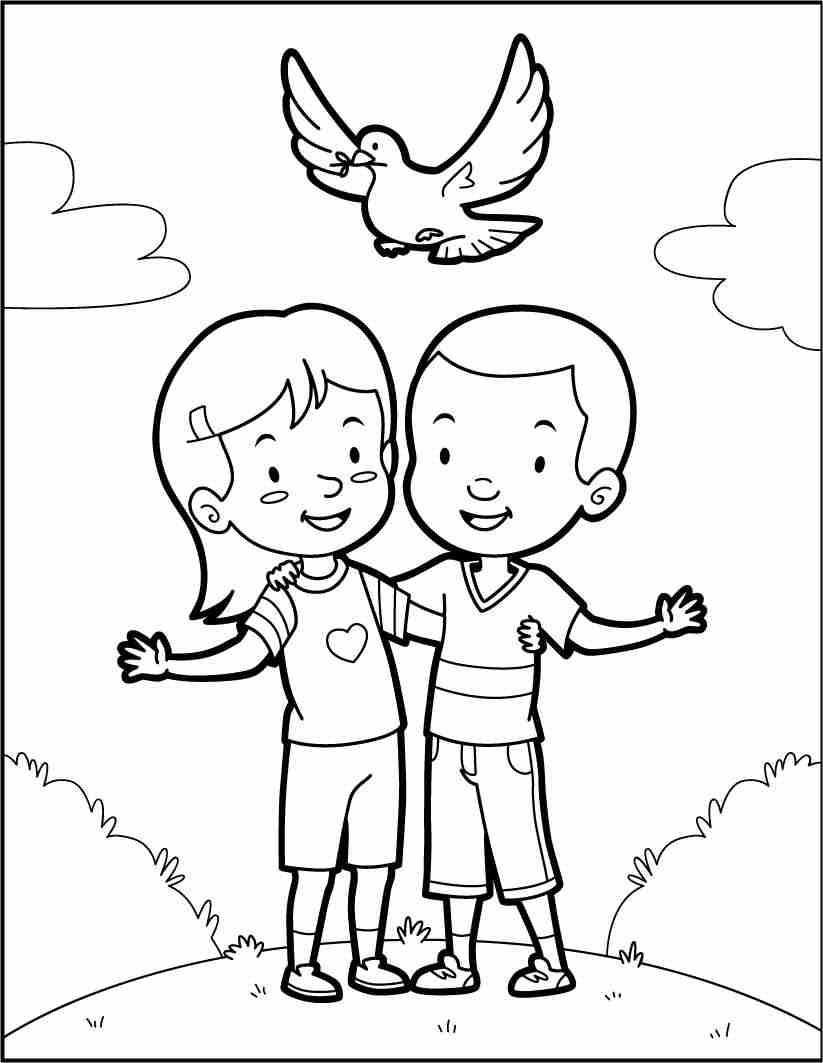 823x1063 International Day Of Peace Coloring Pages Free Within Page Olegratiy