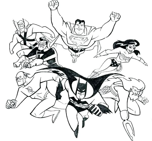 600x559 Justice League Coloring Page Justice League Coloring Pages Justice