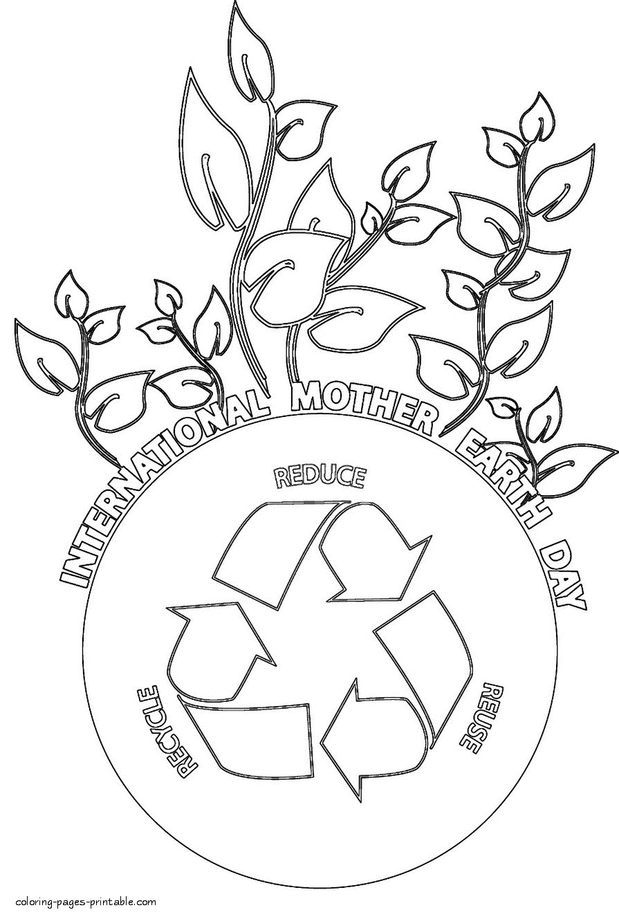 895x1329 Mother Earth Coloring Pages Printable Day International