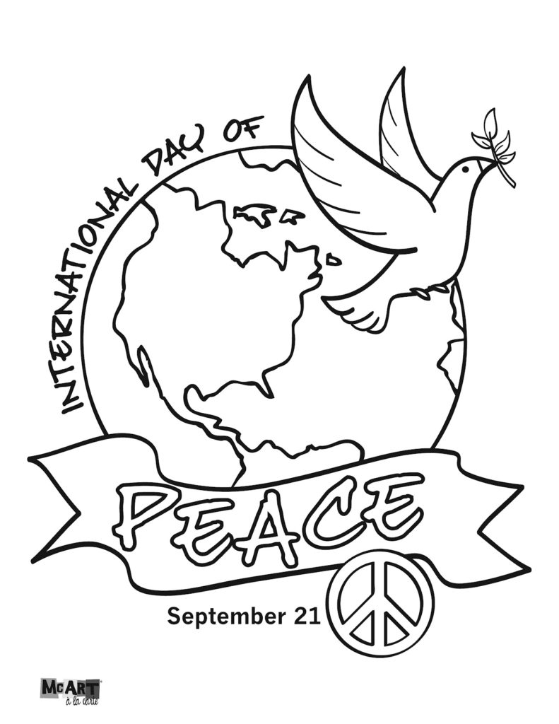 791x1024 Amazing Peace Day Coloring Pages Artsybarksy Within International