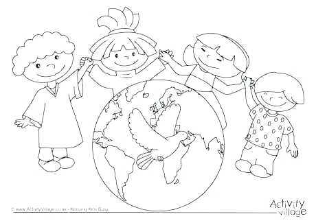 460x325 Coloring Peace Sign Coloring Sheets Pages International Day