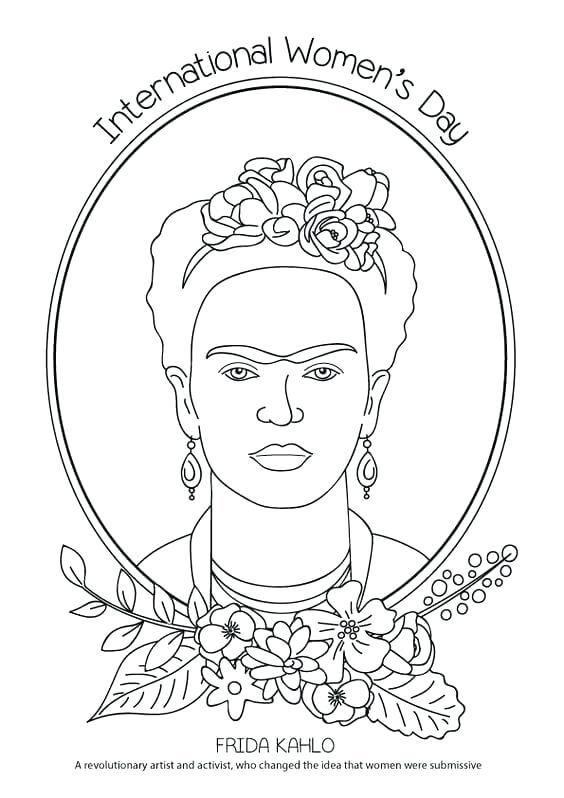 564x798 Awesome Frida Kahlo Printable Coloring Pages And Coloring Page