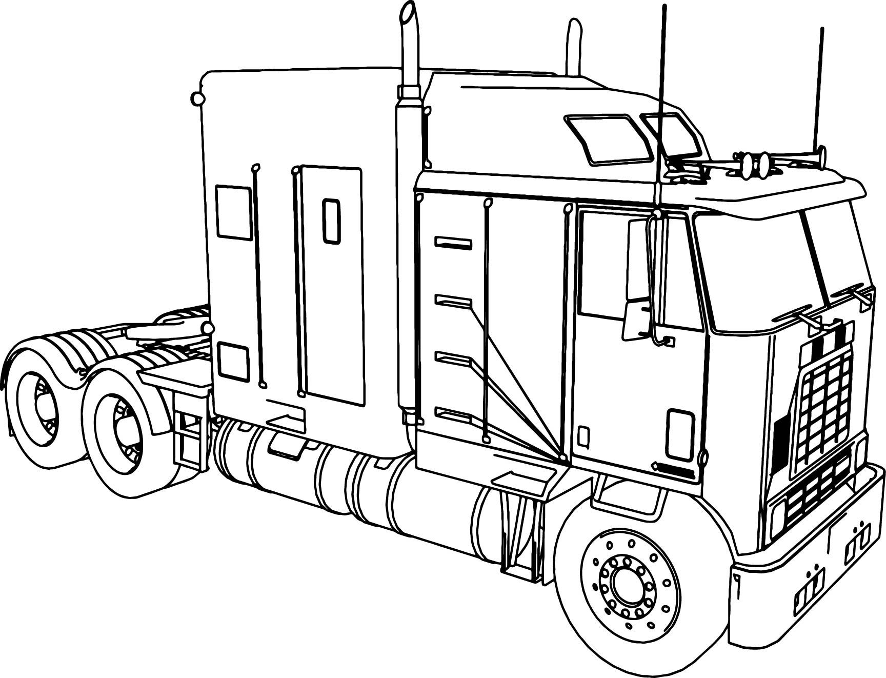 1728x1322 Best International Long Trailer Truck Coloring Page Wecoloringpage