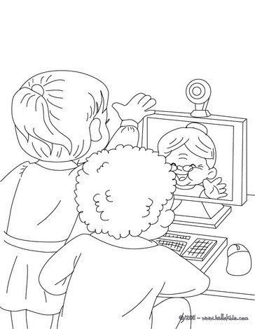 364x470 Grandma Surfing On The Internet Coloring Pages