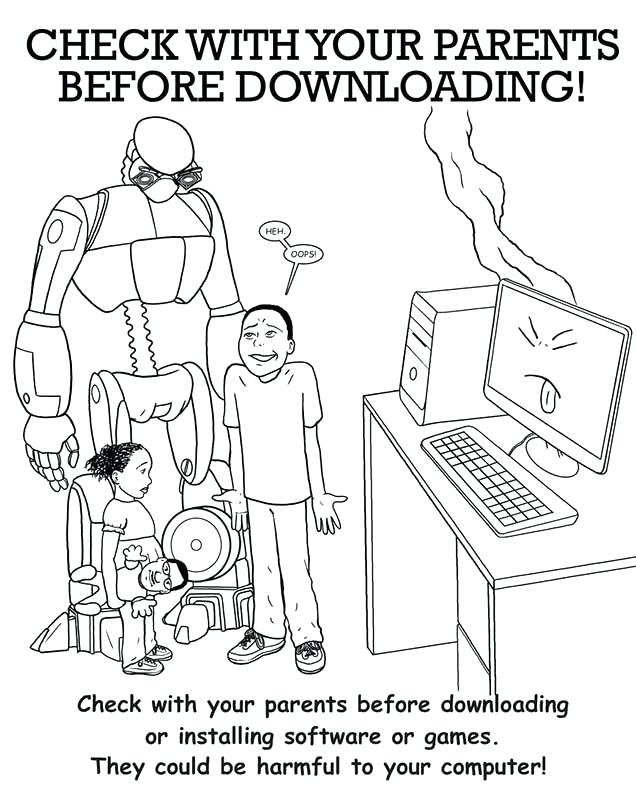 636x800 Internet Safety Coloring Pages Internet Safety Colouring Sheets