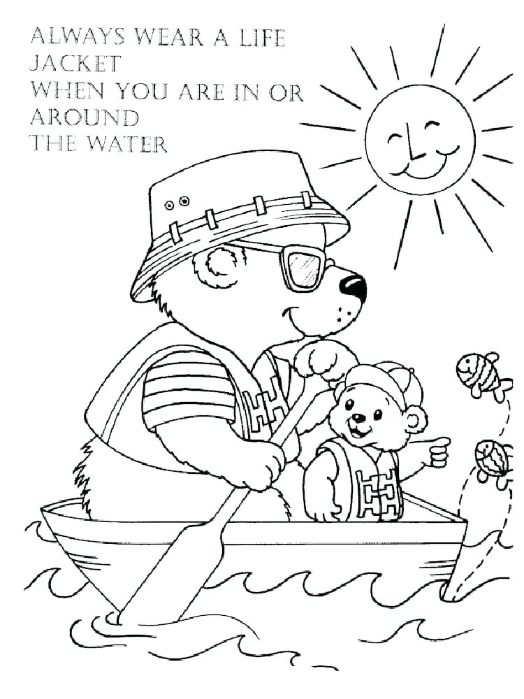 750x1000 Water Safety Coloring Pages Water Safety Coloring Pages Internet