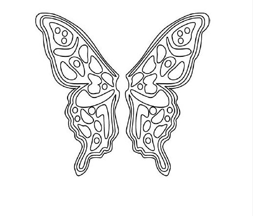 517x441 Butterfly Coloring Pages Hubpages