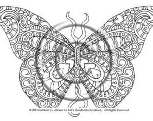 300x238 Intricate Butterfly Coloring Pages