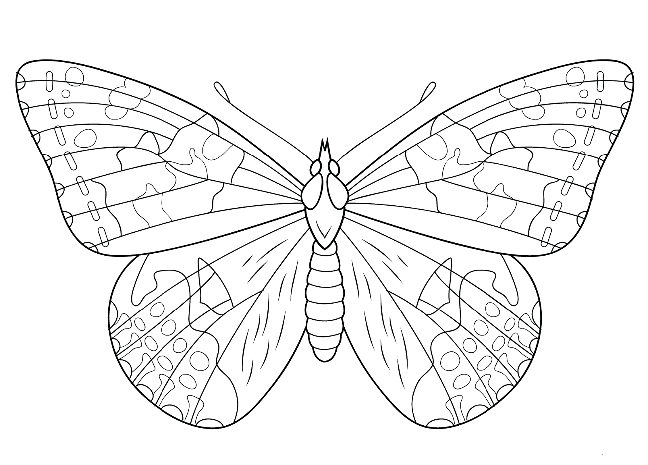 1300x933 Free Printable Butterfly Coloring Pages