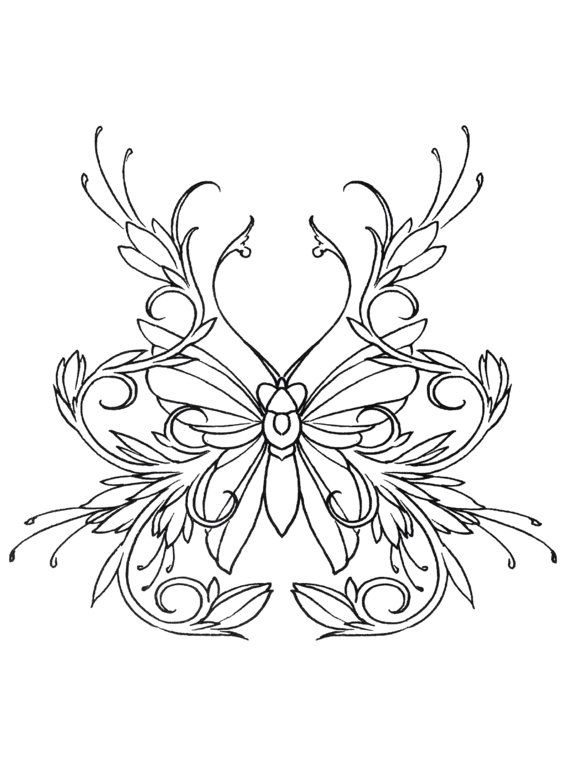 570x763 Intricate Butterfly Coloring Pages Best Ideas For Printable