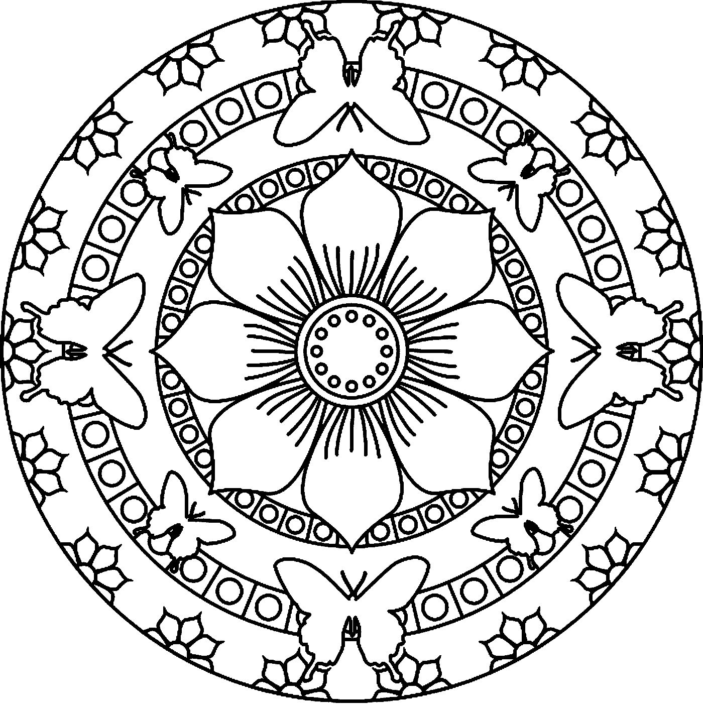 1400x1416 Intricate Mandala Coloring Pages Free Coloring For Kids