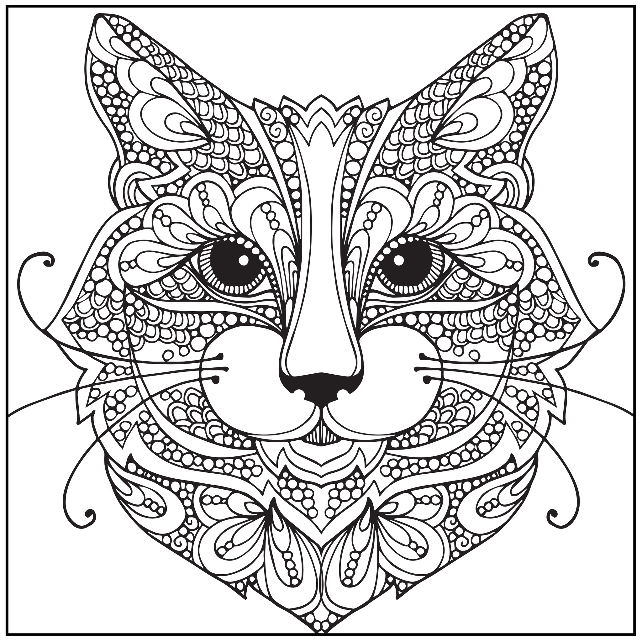 2048x2048 For Adult Coloring Pages Cats Cat Adults