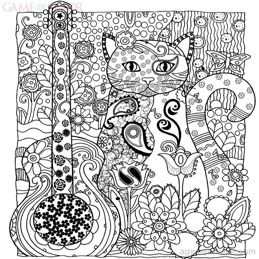 900x900 Inspiring Kitty Cat Coloring Kids Pict Of Intricate Trends And Car