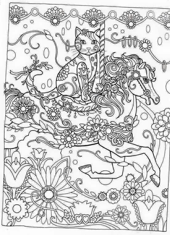 552x764 Intricate Cat Coloring Pages Beautiful Best Gatinho Para