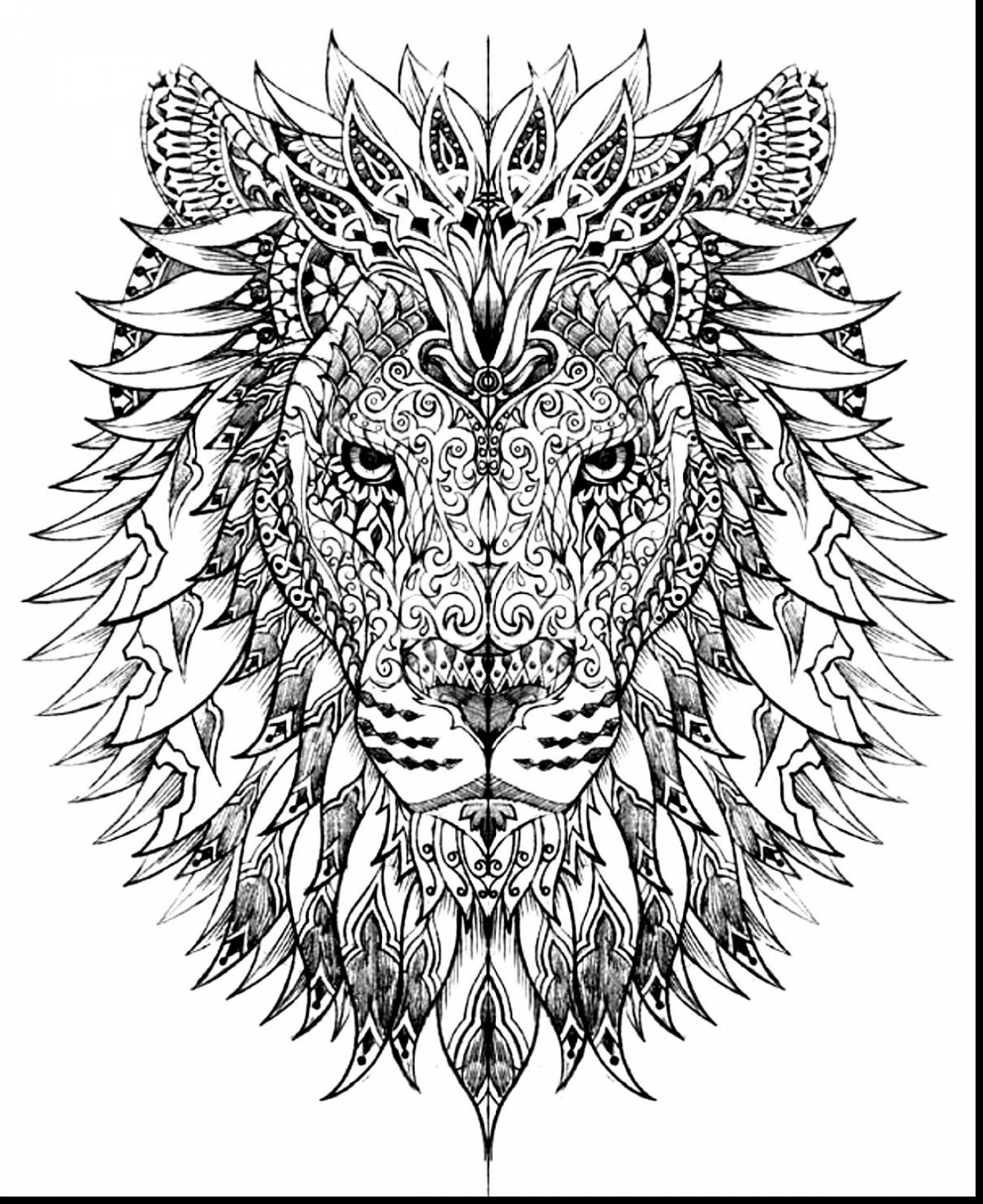 1320x1617 Intricate Coloring Pages Astounding Lion Adult Coloring Pages