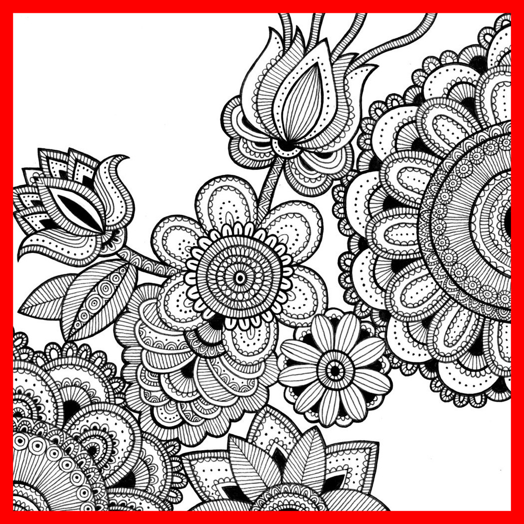 1052x1052 Amazing Intricate Coloring Page Image Clipart Grig Org Pics Of Cat
