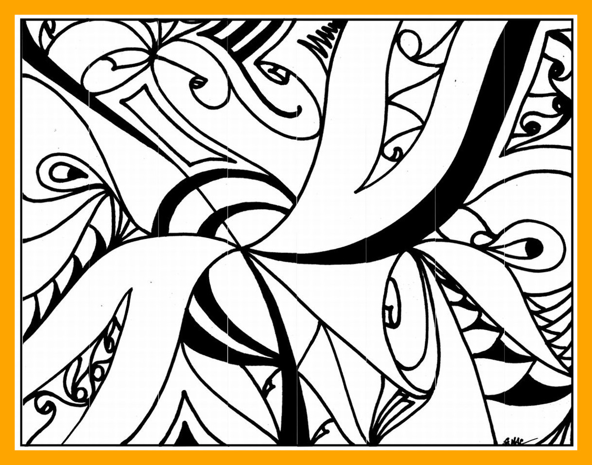 1215x954 Marvelous Abstract Coloring Art Printable Lrg Pic For Intricate