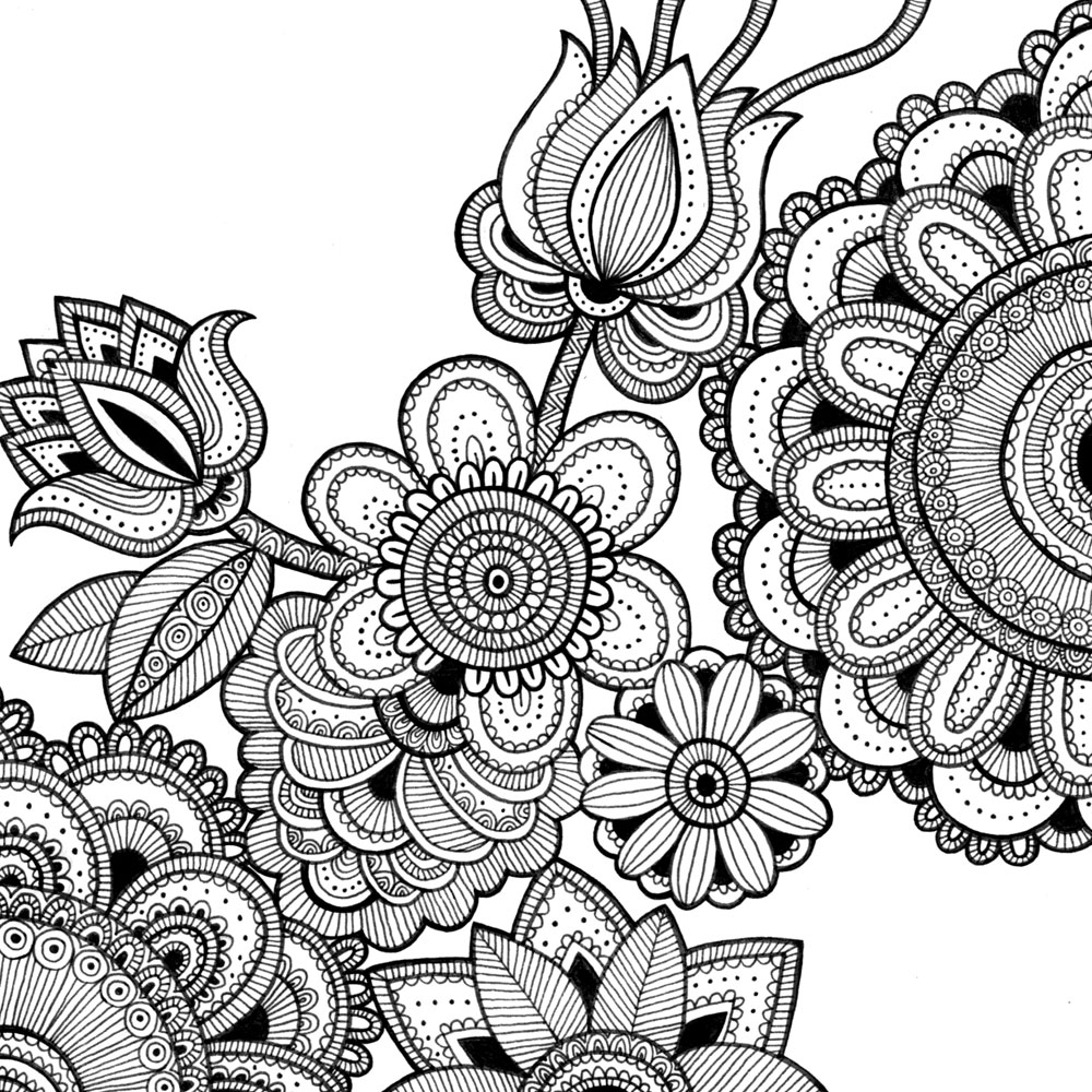 1000x1000 Intricate Coloring Pages Intricate Coloring Sheets Free
