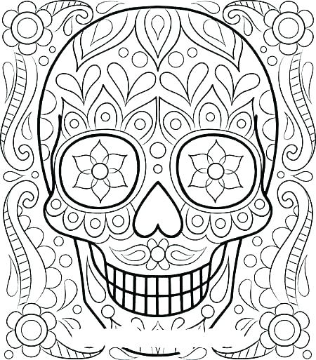 450x513 Intricate Coloring Page Flower Coloring Page Intricate Coloring