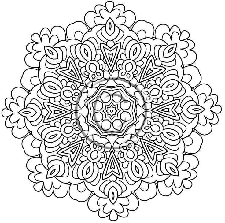 736x729 Design Coloring Pages Intricate Design Coloring Pages Flower