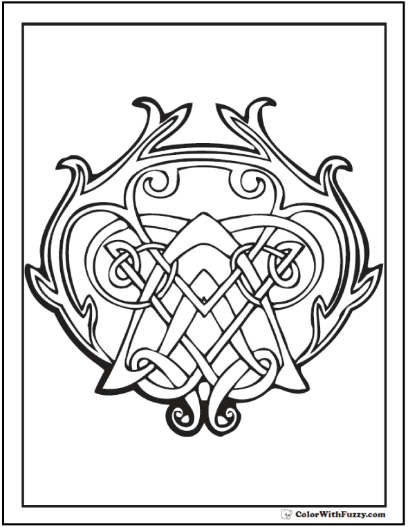 590x762 Celtic Coloring Pages Irish, Scottish, Gaelic Celtic Knot