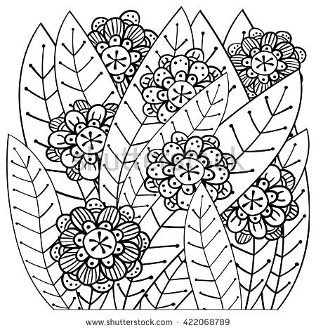 450x470 Intricate Design Coloring Pages Adult Coloring Page Whimsical