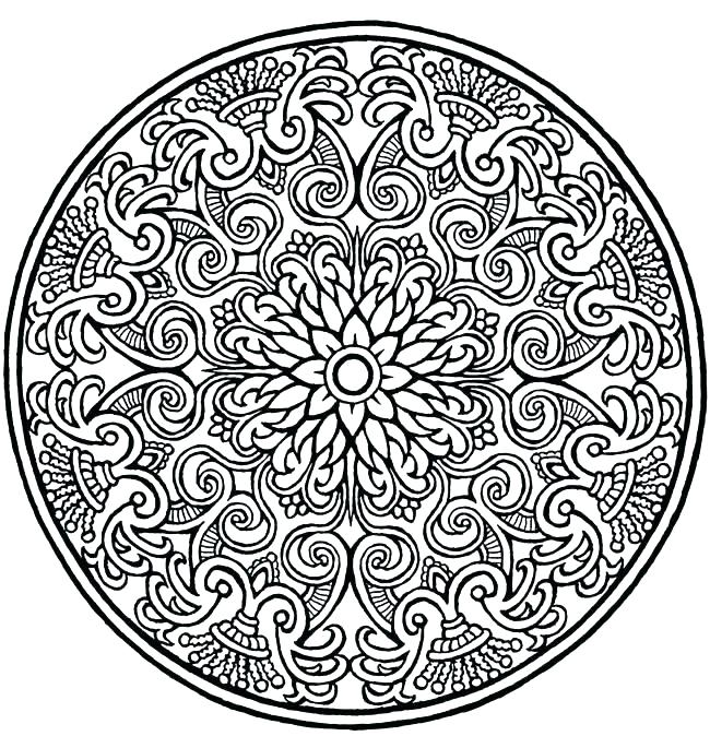 650x674 Intricate Design Coloring Sheets Pages Printable Plus Designs