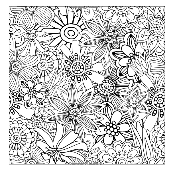600x600 Intricate Patterns And Designs Adult Coloring Book