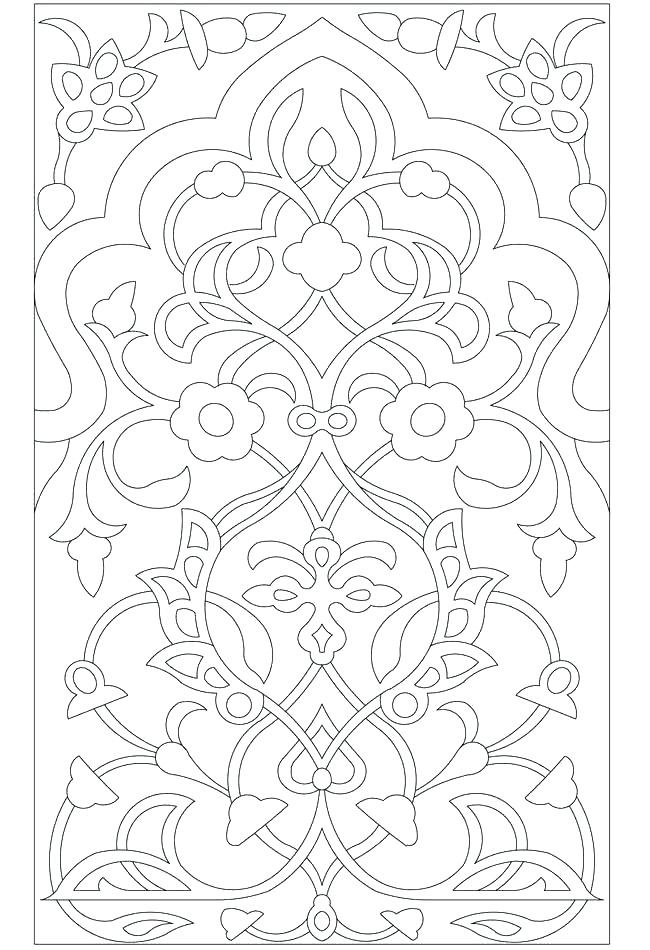 650x950 Intricate Design Coloring Pages