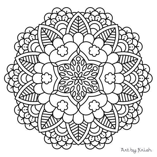 Intricate Mandala Coloring Pages