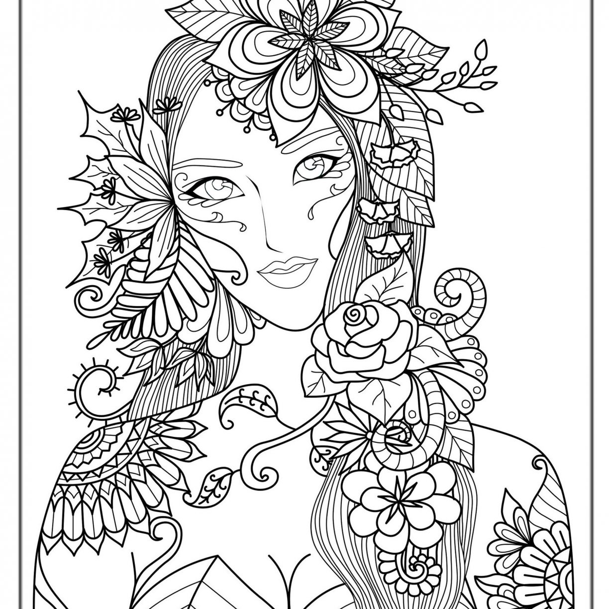 Intricate Mermaid Coloring Pages at GetDrawings.com   Free for ...