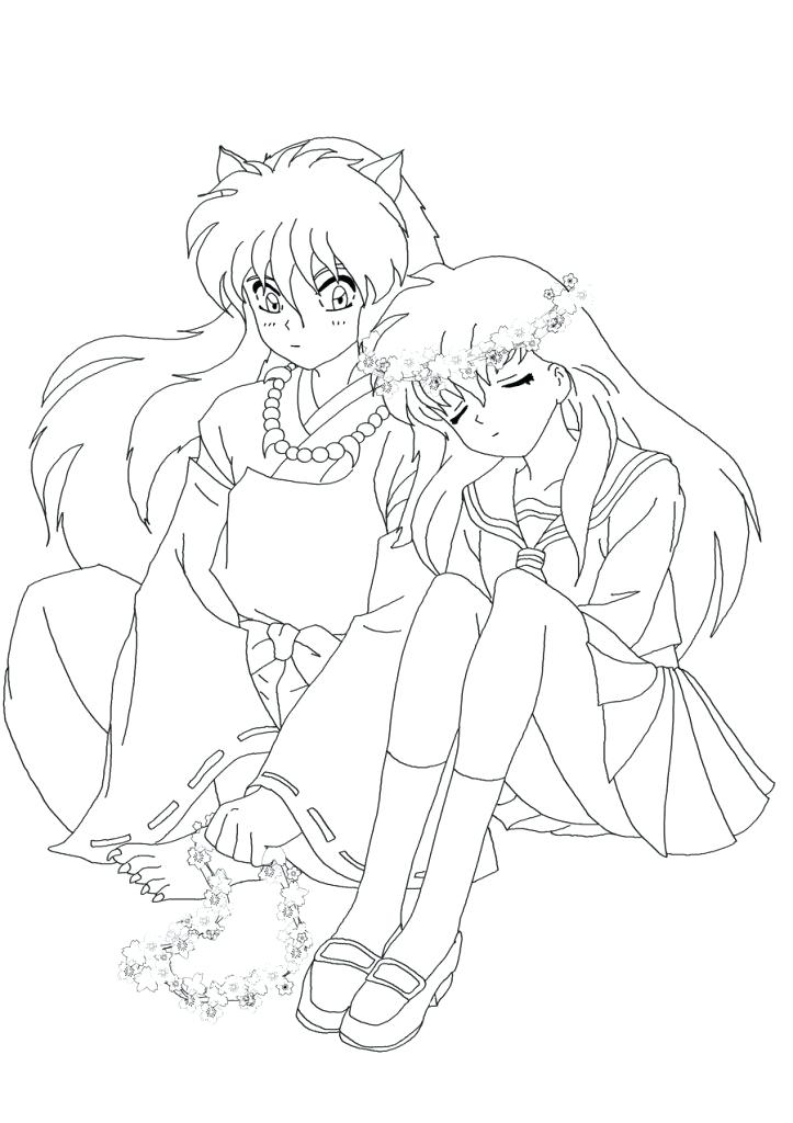 723x1024 Inuyasha Coloring Pages Epic Coloring Pages For Your Download