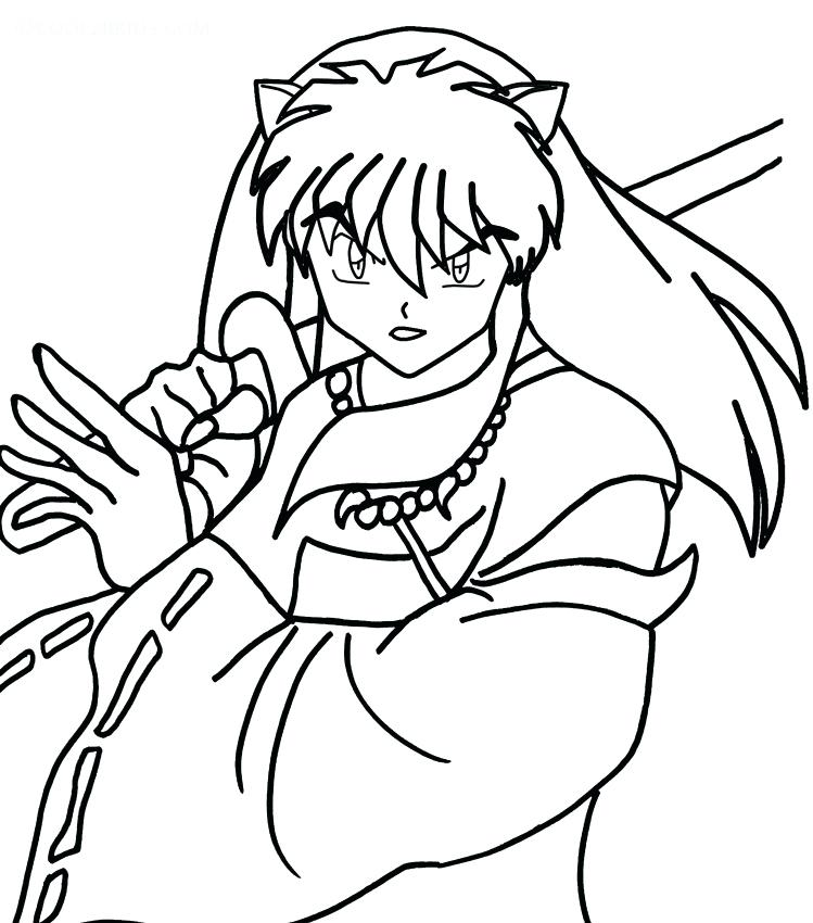 749x850 Inuyasha Coloring Pages Fancy Coloring Pages About Remodel