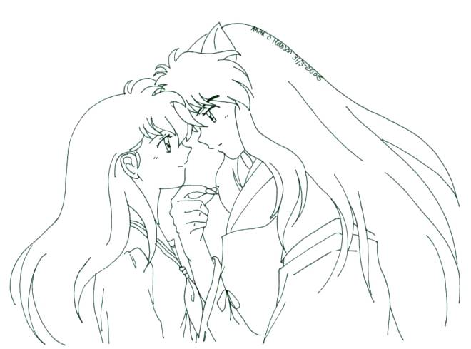 660x489 Top Rated Inuyasha Coloring Pages Images Love You On Inuyasha