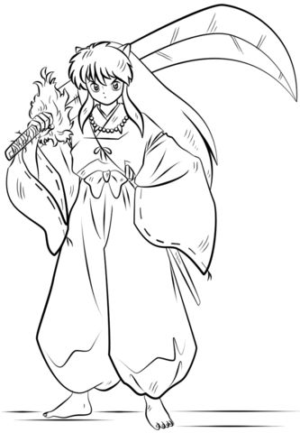 333x480 Astonishing Ideas Inuyasha Coloring Pages Anime Girls Group Page