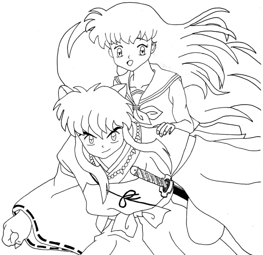 Inuyasha Coloring Pages - Coloring Home | 873x900