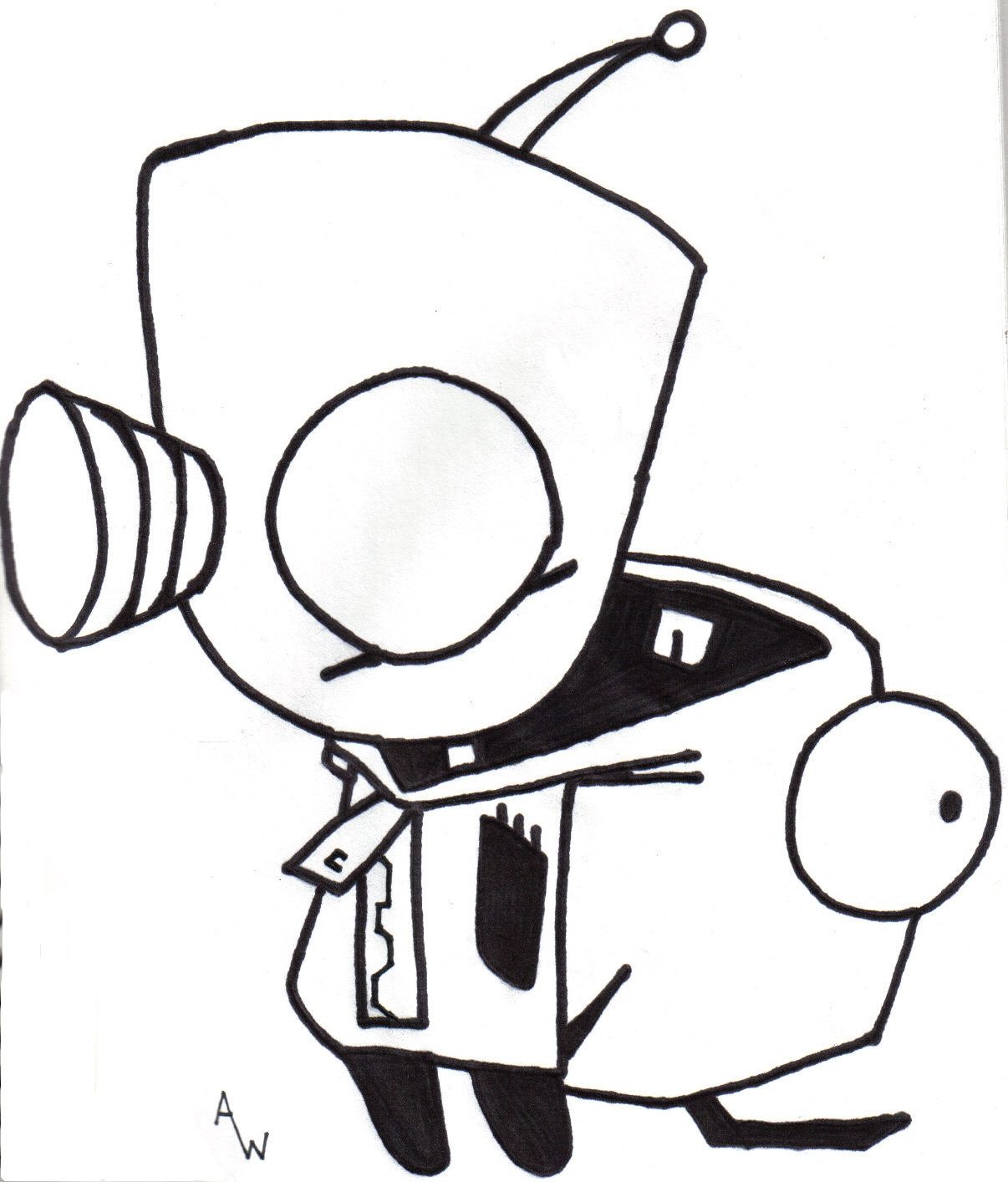 1206x1414 Invader Zim Coloring Pages Free Coloring For Kids