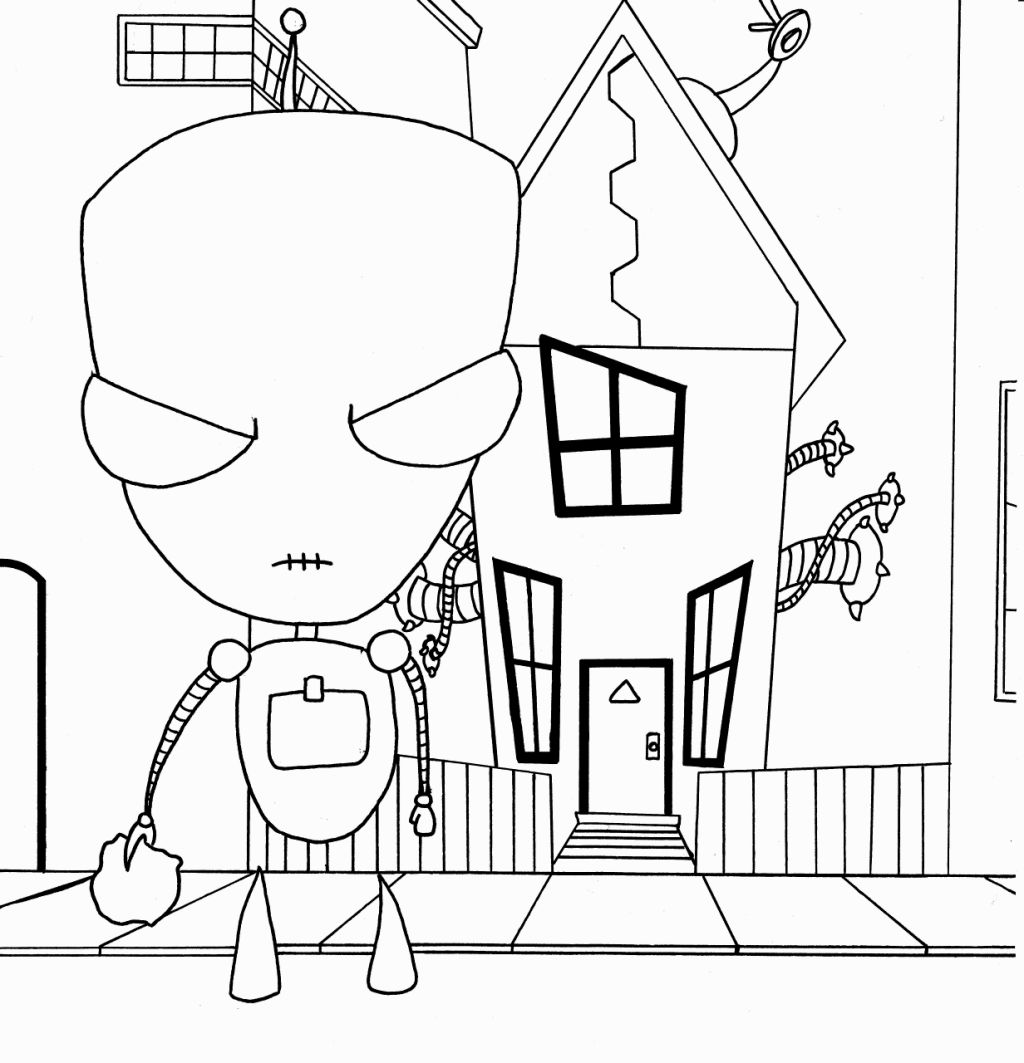 1024x1063 Portfolio Invader Zim Coloring Pages Online
